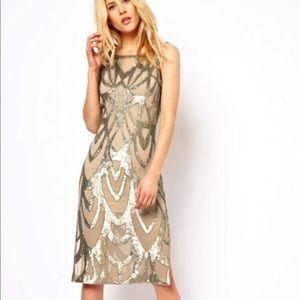 Needle and thread era midi dress